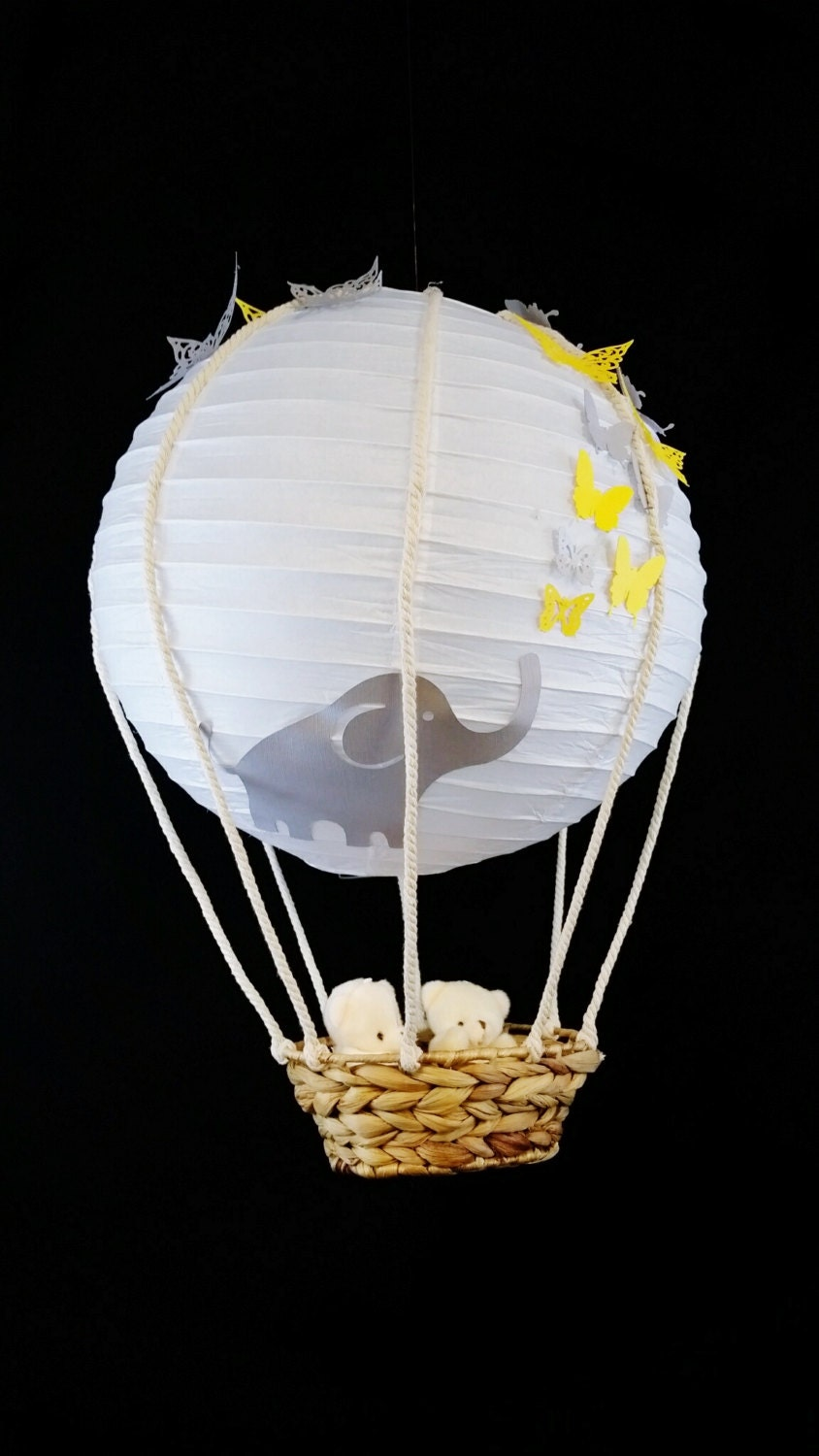 Hot air balloon paper lantern Elephant mobile by ShugaSweetThings