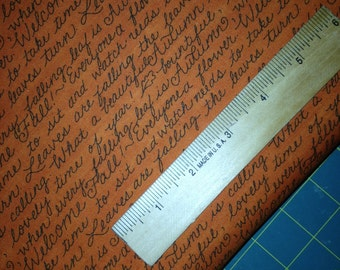Words of Fall on Pumpkin Background, Welcome Fall by Deb Strain for Moda Fabrics, 100% Cotton