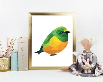 Bird printable, digital print, bird art print