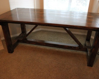 Rustic Farmhouse Dining Table - Made in Oregon