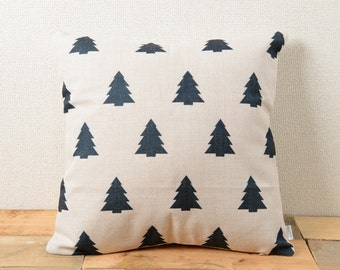 Jubilee Cushion Pillow cover case made of Natural Linen Black Tree Silhouette (SE596A)