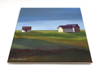 "Jenkins Place - by Elaine Raphael 6"" Glossy Ceramic Tile"