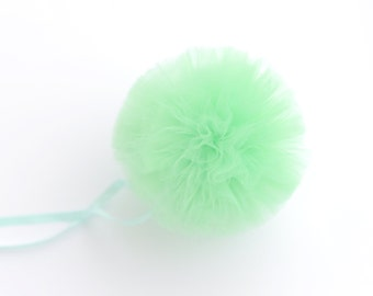 Mint tulle pom poms / wedding party decorations pompoms