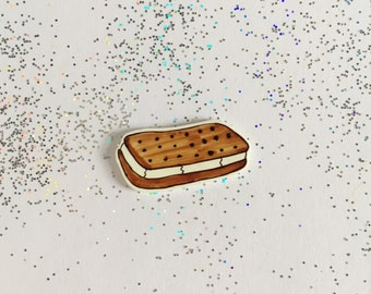 Ice Cream Sandwich Pin [brooch lapel pin]