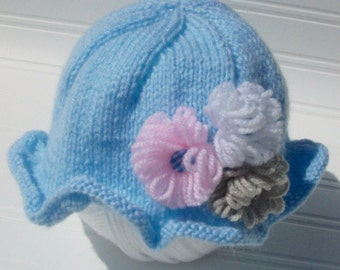 Hand knitted baby's hat