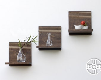 Floating Shelves (x3) - Wood Shelves, Floating Wood Shelf, Decorative Shelf, Floating Shelf, Wood Shelf, Open Shelving, Modern Home Decor