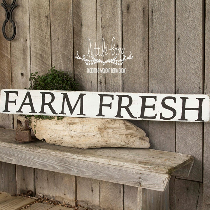 Wood Sign / Farmhouse / Farm Fresh / 48 Inch Sign / Farm Decor