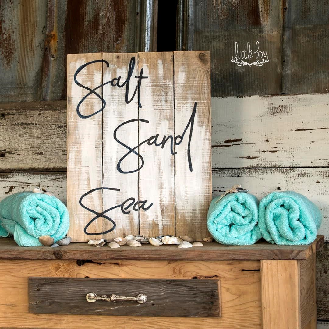 Bathroom Sign Texture salt, sand & sea sign / beach decor / beach sign / ocean