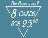 AUSTRALIA MAIL by TUBE // 8 Fire Hall Cards for 24.00 // Toronto Architecture