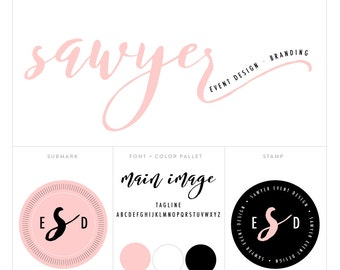 premade logo package // logo package // blog header package // photography logo