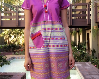 Modern Thai hill tribe dress