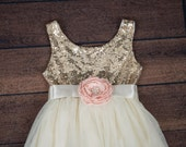 Ivory Flower Girl Dress, Cream Tulle Wedding dress, Champagne Tutu Dress, Coral, Ivory, Navy, Pink, Rose, Mint, Green, Cream Sash