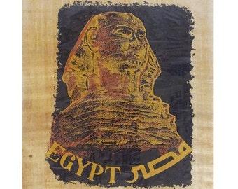 Handmade Original Misr Egypt Sphinx Papyrus