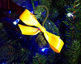 Tie a Yellow Ribbon Military Paracord Ball Ornament