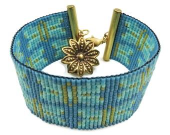 Blue Moth Loom Bracelet