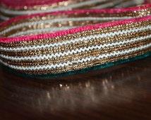 Decorative Trim, Metallic Gota Pati Ribbon for Sari Border Lehenga Dress, trim ribbon, Tapes and trim Metallic Trim costume Trim, Trimming