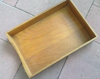 Vintage Wooden Desk Organizer Tray
