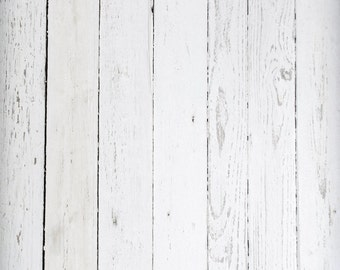 white wood backdrop peeled white painted planks wooden floor printed fabric photography background