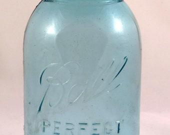 Vintage Blue Ball Canning Jar
