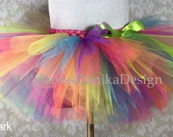 Neon Rainbow Tutu, Circus Tutu, Clown Tutu, Color Run Tutu, Rave Tutu, Infant/Toddler Tutu Girls/Teen Tutu, Adult Tutu, Running Tutu