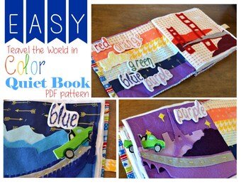 EASY-Travel the World in Color- QUIET BOOK - pdf pattern