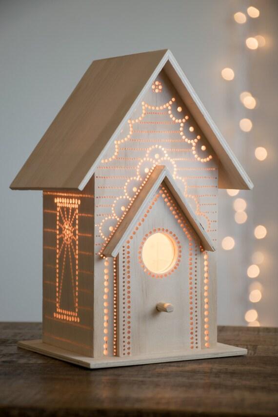 Birdhouse Night Light Woodland Nursery Nightlight Baby