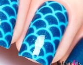 Mermaid stencils, scale stickers for nail art, nail vinyls