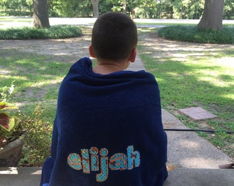 Appliqué Name Towel