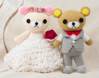 Wedding couple, Wedding Dolls, wedding crochet, wedding gift, bride and groom gift, for wedding decor