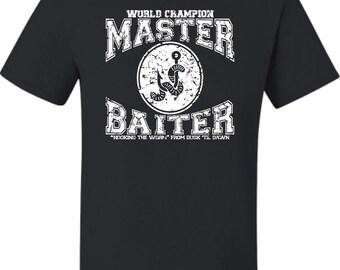 Adult World Champion Master Baiter Fishing T-Shirt