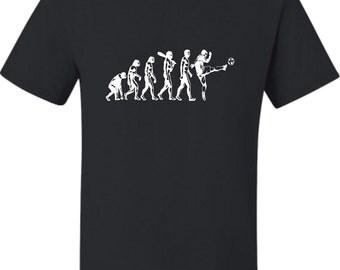 Adult Evolution Of Soccer Evolution Of Man T-Shirt