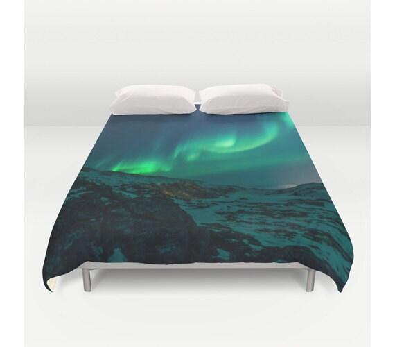 Duvet Cover Northern Lights Aurora Borealis Sky Bedding