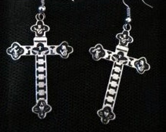 Earrings cross Gothic - Gothic Cross Earrings