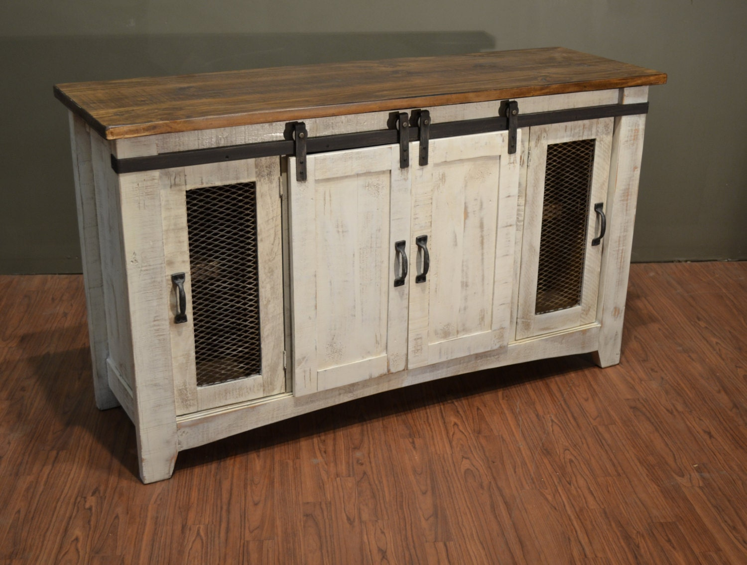 rustic solid reclaimed wood tv stand media center sideboard. Black Bedroom Furniture Sets. Home Design Ideas