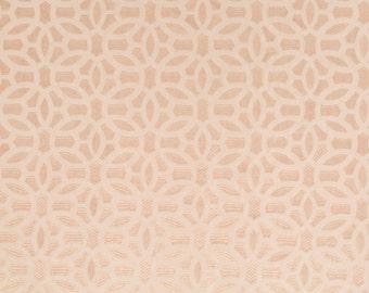 BEACON HILL ELHAM Geometric Silk Jacquard Fabric 5 Yards Blush