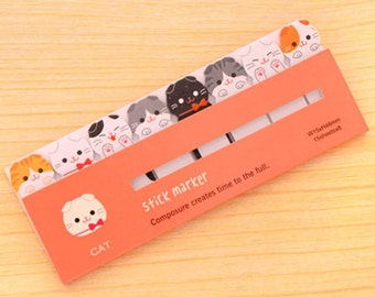 Kitty Cat Sticky Notes - Cute Kawaii Post-It Notes / Stationery / Stationary / School Supplies / Memo Pad