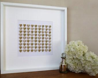 Glitter 3D Heart Wall Art