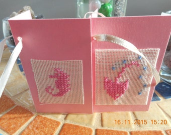 Lot of two gift tags to add on gift packages