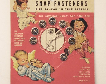 Vintage Gripper Tap On Snap card
