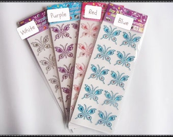 Acrylic Flowering / Butterfly Rhinestones