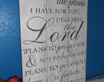 Reclaimed Wood Sign • Fence board sign • Scripture Church Sign • Custom Bible Verse Sign • Jeremiah 29:11 • Upcycled Decor • Repurposed Sign
