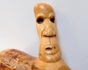 Hand Carved Pine Incense Burner