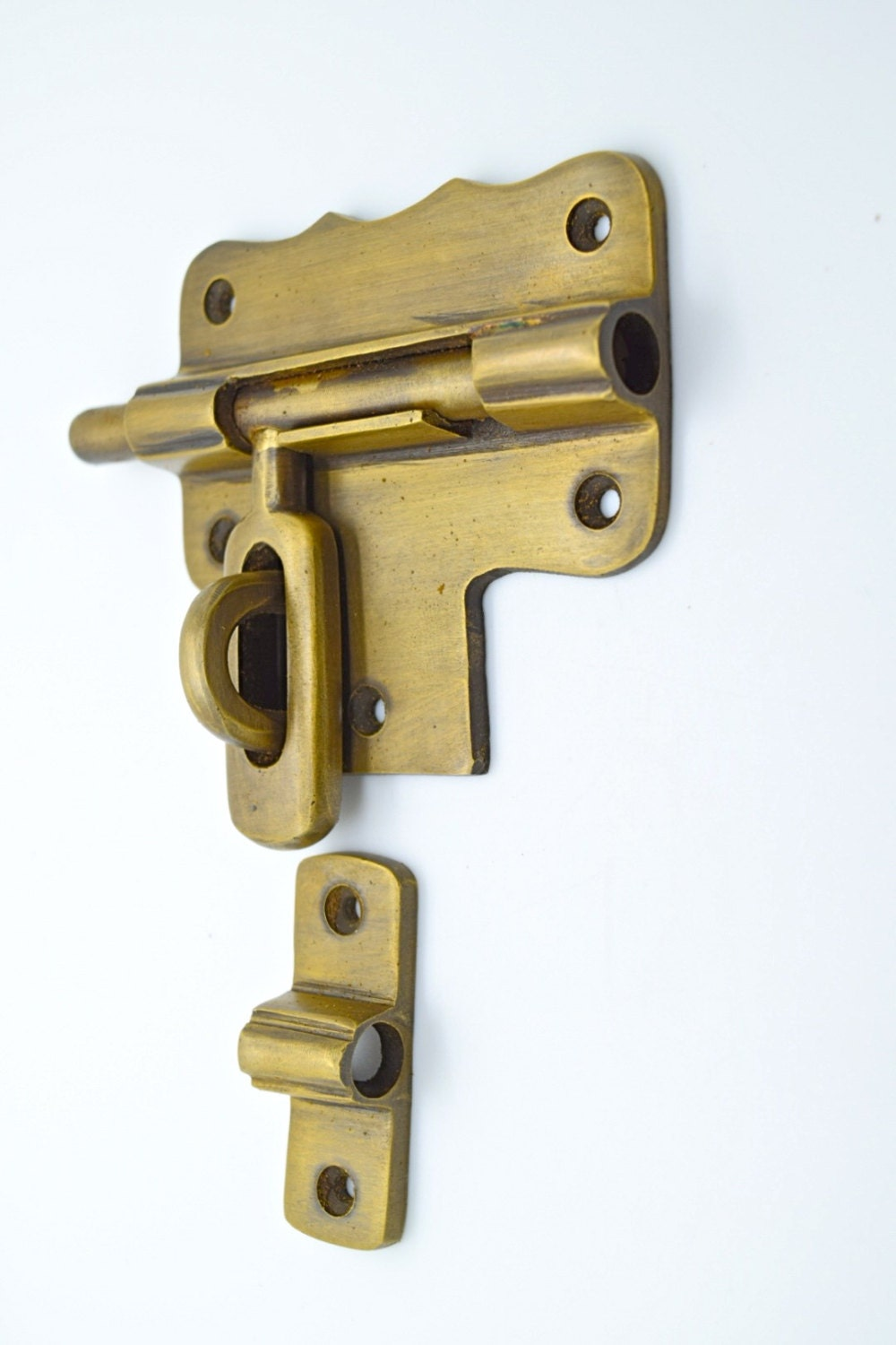 Vintage Door Lock Antique Brass Lock Old Brass By