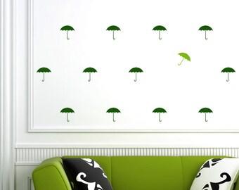 Umbrellas Wall Decal / background / modern wall decal / Nursery wall sticker / Mary Poppins Umbrella / Umbrella  stickers