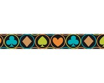 15mm Tape Works Clubs Spades Diamonds and Hearts Pattern Washi Tape For Planners. Scrapbooking.