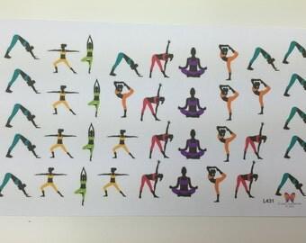 Yoga Planner Stickers