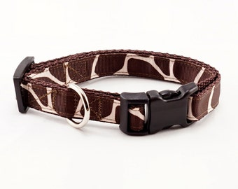 "Animal Print Dog Collar (3/4"" width) - Small - Medium"