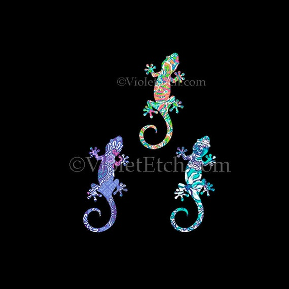 Gecko Decal-Lilly Inspired-Yeti Decal-Car Window Decal-laptop decal