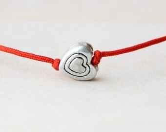 Heart bracelet, valentines gift, valentines day, valentine card, love, silver heart bracelet, gift for girlfriend, gift for anniversary