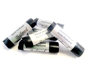 Solid perfume, phthalate free, petroleum free fragrance, travel perfume